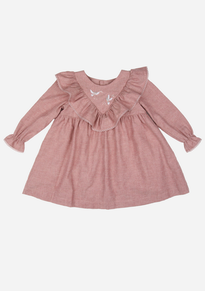Dove of Peace Heirloom Dress, Dusty Rose