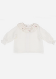 Scattered Posies Heirloom Blouse, Ivory