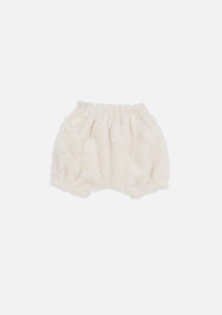 Faux Fur Bloomer, Ivory