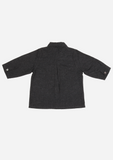 Long Sleeve Feather Shirt, Anthracite