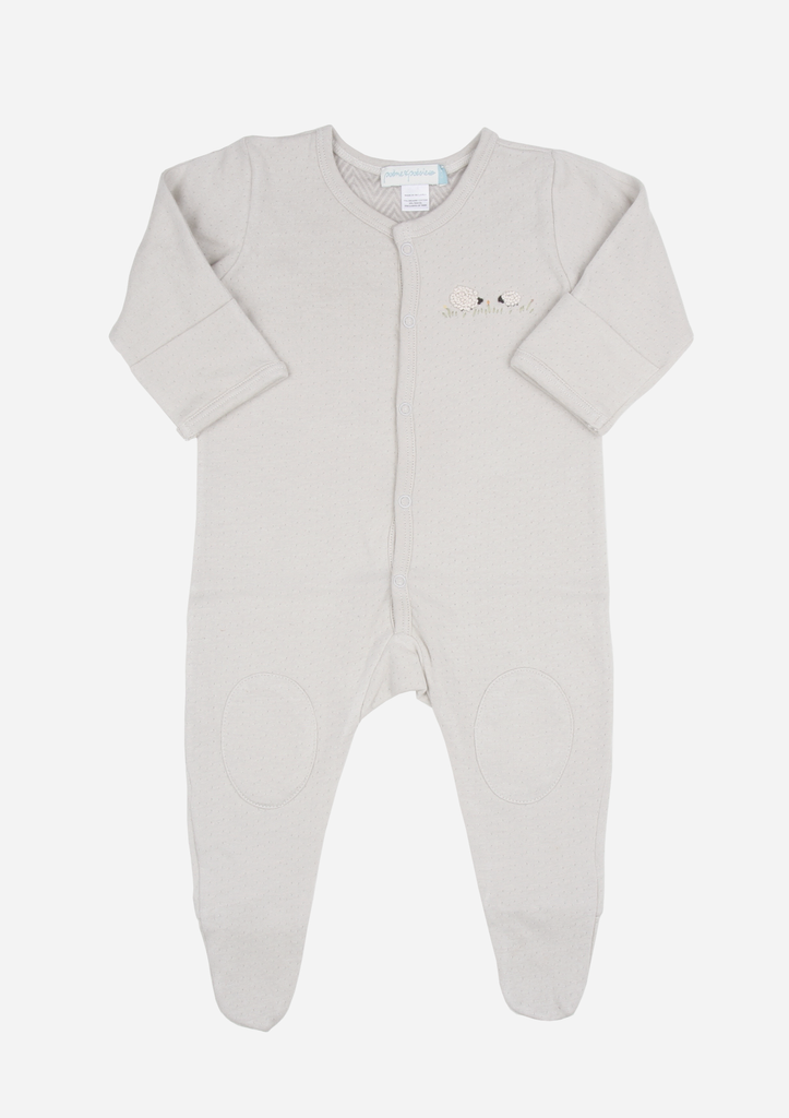 Fluffy Sheep Playsuit, Dove Grey