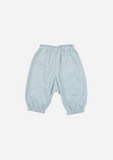 Double Face Chambray Gathered Pants, Stone