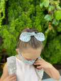 Heirloom Scrunchie, Vintage Rose, Blue