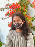 """Be Safe. Be Kind"" Printed Heirloom Mask - Ebony Roses"