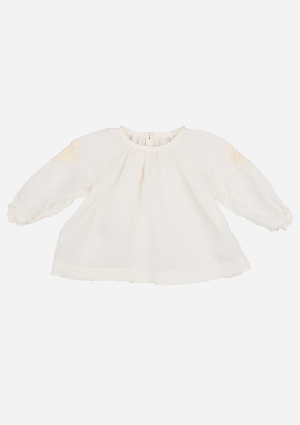 Heirloom Blouse with Lace Motifs, Ivory