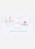 Handmade Headband with Parrot Buddies, White