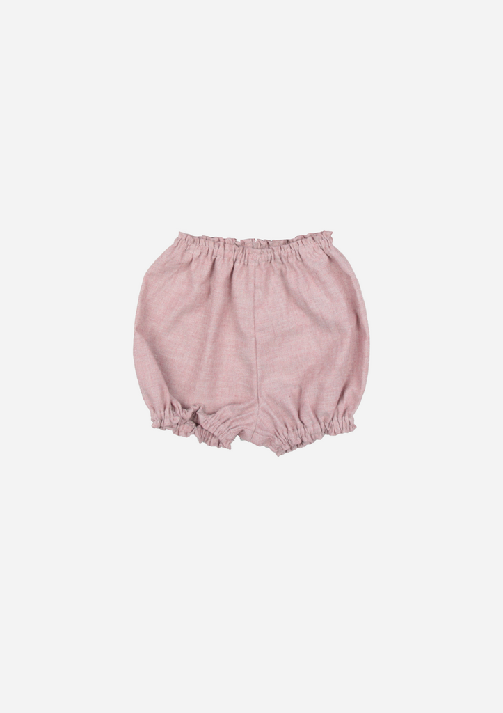 Chambray Bloomer, Dusty Pink