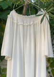 Preorder - Hand Smocked Jersey Day Gown, White