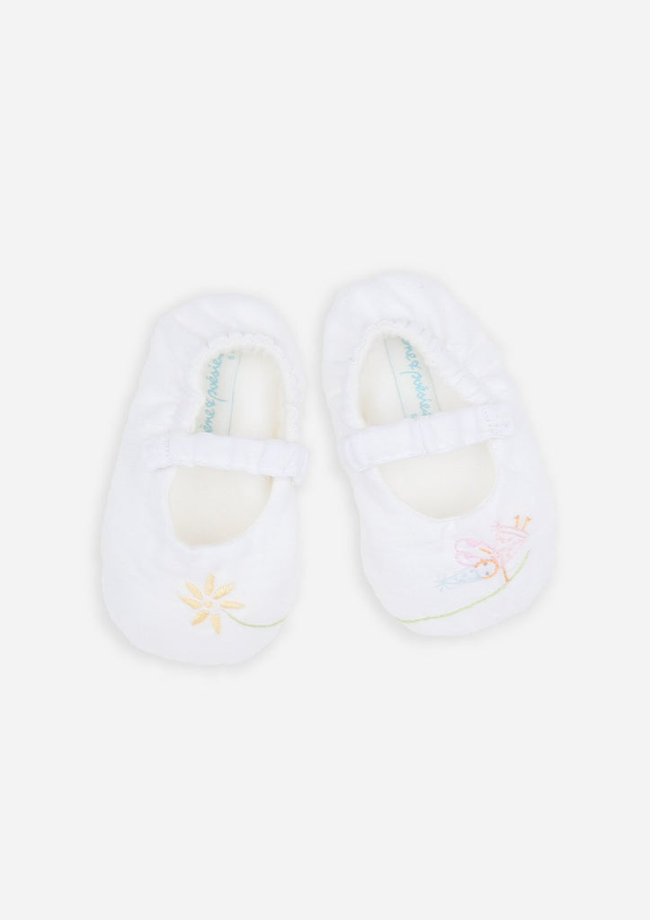 Reversible Pixie Mary-Janes, White