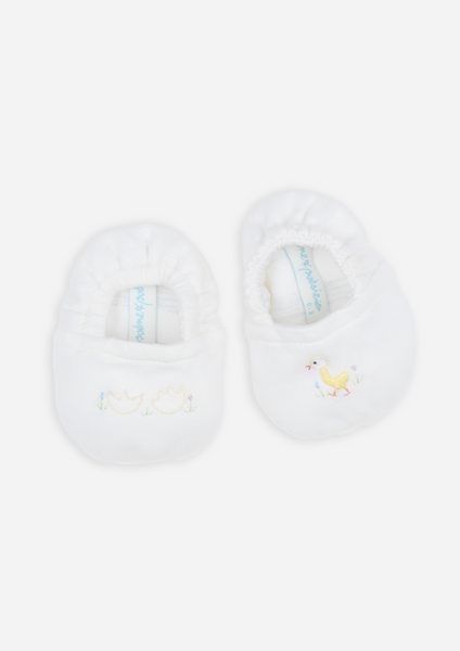Reversible Hatchling Booties, Ivory