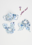 Heirloom Scrunchie, Blue Wildflower