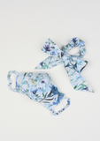 Heirloom Ribbon Scrunchie, Blue Wildflower