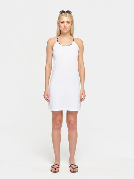 Plaited strap dress