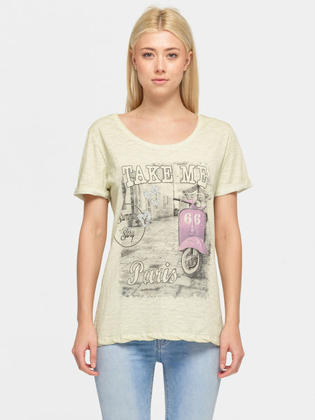Paris print t-shirt