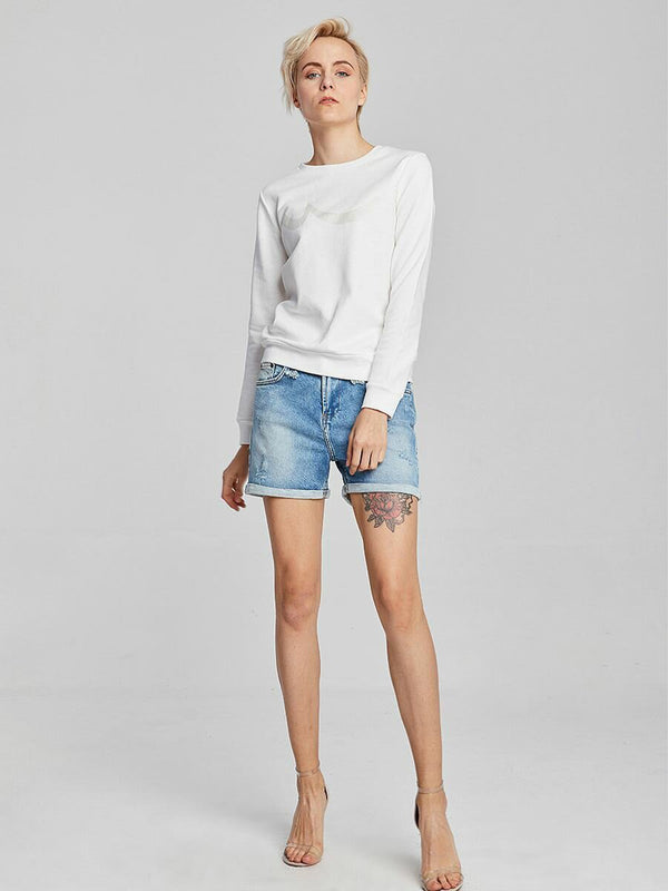 Melina Messy Denim Short