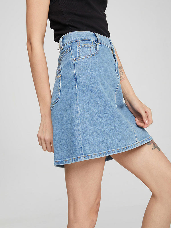 Bellay Lovada High Rise Denim Skirt