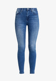 "LTB Women's ""Amy Erlina"" High Rise Mid Blue Skinny Jean Ankle Length"