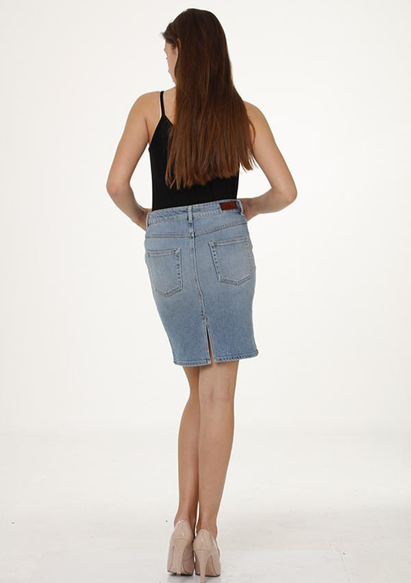 Hilara Lovada Denim Skirt