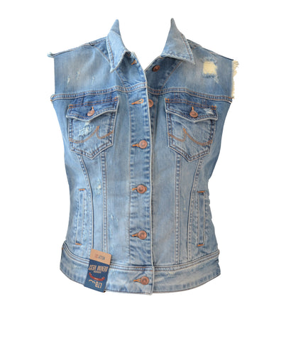 Kelly Bleach Ripped Vest