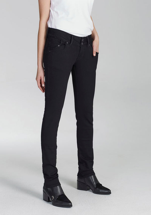 Molly Black Low Rise Slim