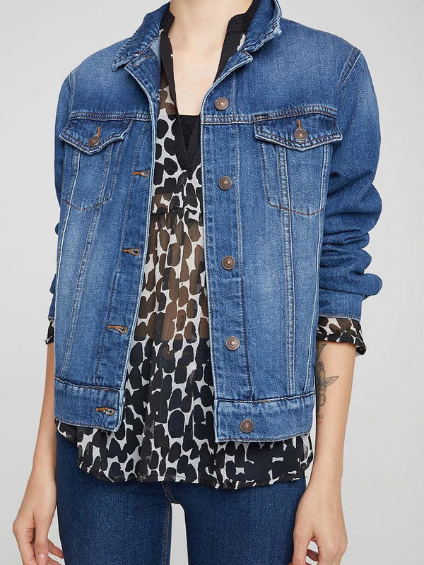 Mona Arla Blue Denim Jacket