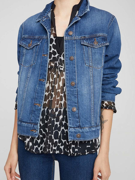 "New LTB Women's ""Mona Arla"" Medium Blue Denim Jacket"