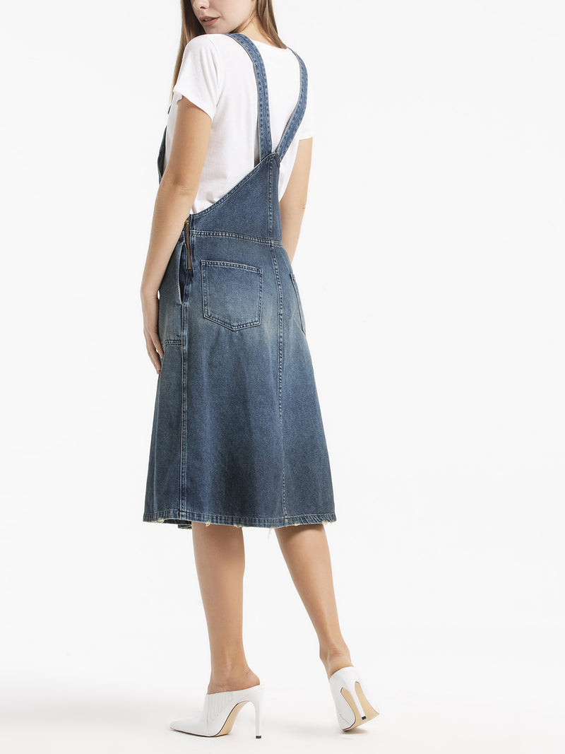 More Esete Denim Apron Dress