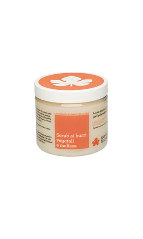 SCRUB WITH VEGETABLE BUTTER AND MELISSA OIL Biofficina Toscana - natural italian skincare www.MilanoCoronado.com
