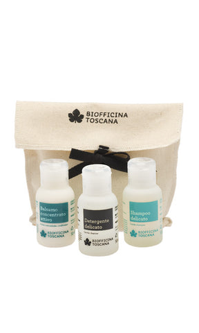 TRAVEL SIZE BODY AND HAIR Biofficina Toscana - natural italian skincare www.MilanoCoronado.com