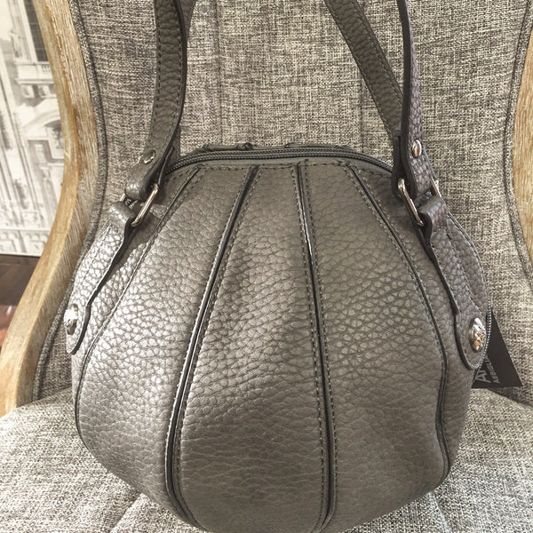 Bag, Grey, Cruelty free Handbag shaped as a Ball - natural italian skincare www.MilanoCoronado.com