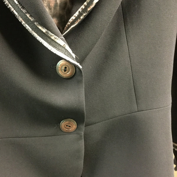 Designer jacket, black with animal print detail - natural italian skincare www.MilanoCoronado.com