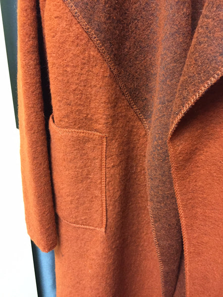 Coat, Orange, One Size - natural italian skincare www.MilanoCoronado.com