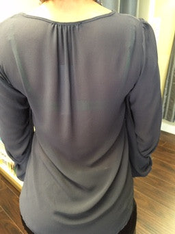 Shirt, Grey, see-through with peculiar sleeve - natural italian skincare www.MilanoCoronado.com
