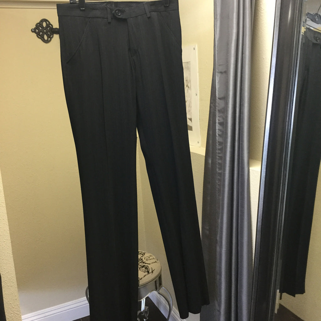 Pants, black with taupe and black stripes - natural italian skincare www.MilanoCoronado.com