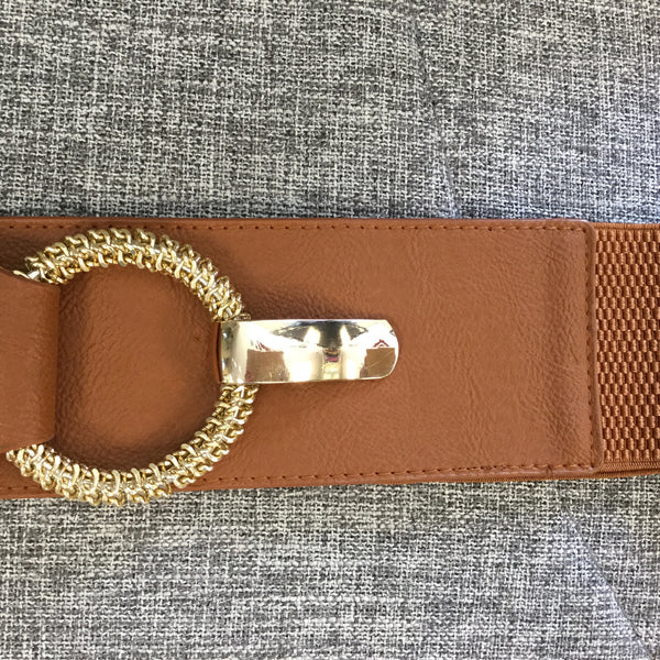 Belt, Tan brown with gold clasp - natural italian skincare www.MilanoCoronado.com