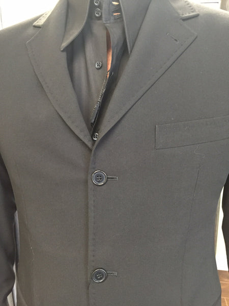 Jacket, black with stitches motif - natural italian skincare www.MilanoCoronado.com