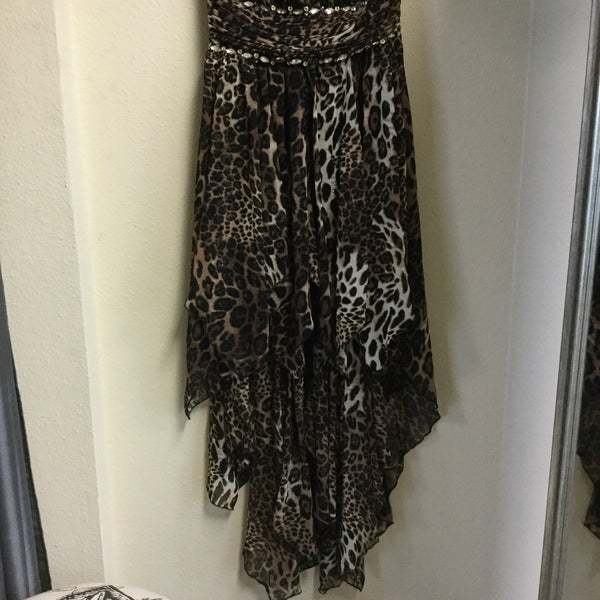 Dress, Brown Animal print - natural italian skincare www.MilanoCoronado.com