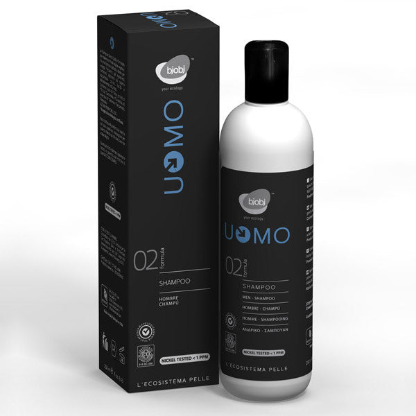 Man Gentle SHampoo for Frequent Use with Panthenol, Bjobj - natural italian skincare www.MilanoCoronado.com