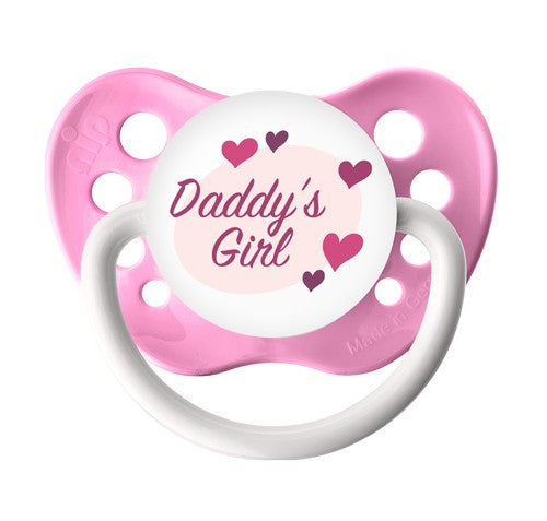 Expression Pacifiers - Daddy's Girl - Pink - 0-6M - Through my baby's eyes
