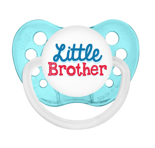 Expression Pacifiers - Little Brother - Transparent Blue - 6-18M - Through my baby's eyes