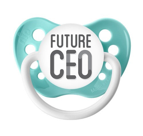 Expression Pacifiers - Future CEO - Seafoam - 0-6M - Through my baby's eyes