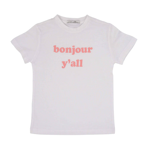 Bonjour Yall T-Shirt - Size 2T