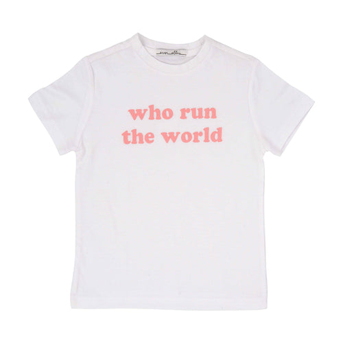 Run the World T-Shirt - Cotton White 2T