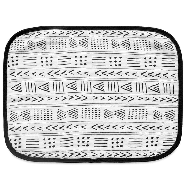 4 LAYER ORGANIC COTTON MUSLIN BURP CLOTH - REVERSIBLE MUDCLOTH + MOROCCAN - Through my baby's eyes
