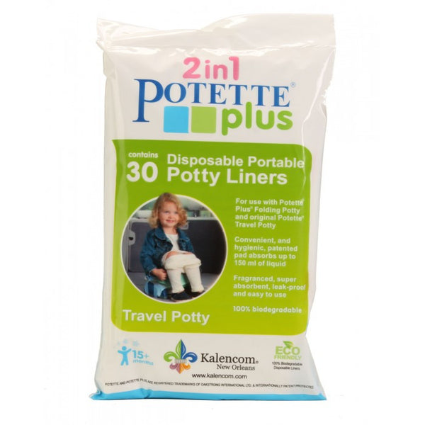 2n1 Potette Plus - Disposable Portable Potty Liners (30 count) - Through my baby's eyes