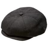 Black Herringbone Newsboy Cap - 2-3YRS - Through my baby's eyes