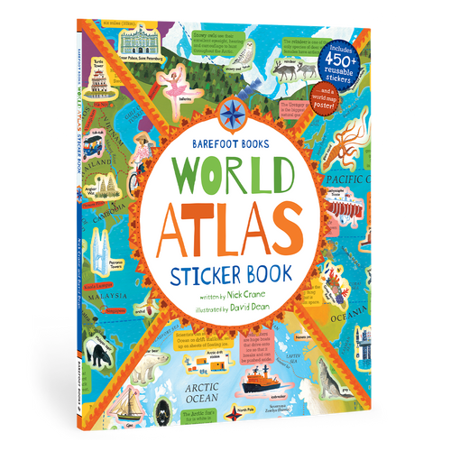 Barefoot Books World Atlas Sticker Book - Paperback