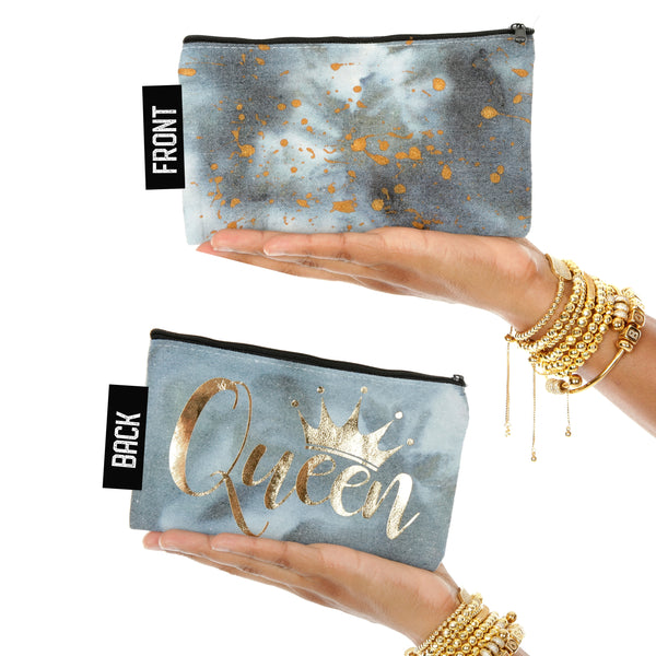 Queen Ice Tie Dye Fashion Mantra Makeup Pouch