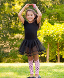 Short Sleeve Black Tutu Leotard - Through my baby's eyes