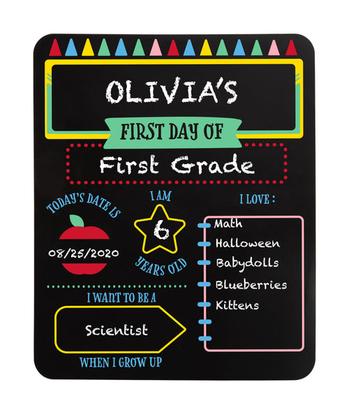 First and Last Day of School Reversible Chalkboard
